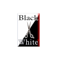 frizerski salon black & white crna gora logo