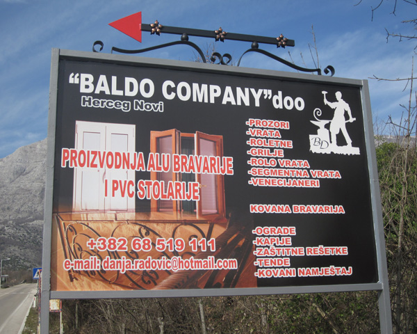 izrada bilborda baldo company crna gora