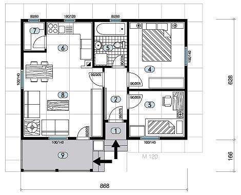 negal company montažne kuće 50-100 m2