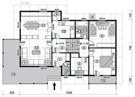 negal company montažne kuće veće od 100 m2