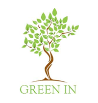 green in logo